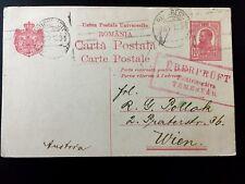 WWI WW1 Romania postal card Uberprüft Temesvar Censor cancel 1916