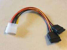 4 Pin Molex to 2 x 15 Pin SATA Power Cable f IDE to Serial ATA Hard Drive DT