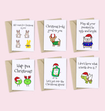 Funny Christmas Card Pack / 6 Cards / Friends of Henry / Christmas Value Pack