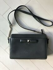 kate spade New York Textured Gray Patent Leather Shoulder Strap Purse EUC
