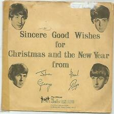 "THE BEATLES CHRISTMAS RECORD ~ RARE -  1963 -  UK - ONE  SIDED 7"" FLEXI"