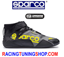 SCARPE SPARCO OMOLOGATE FIA APEX 2018 - SPARCO RACING SHOES TG 44 NERO GIALLO