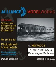Alliance Model Works 1:700 1930s-1950s Passenger Railcars Detail Set #NW70023