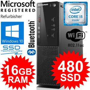 LENOVO, HUGE 16GB RAM, 480GB S/FAST SSD. WIN 10 PRO, WIFI, B/TOOTH, 24M WARRANTY