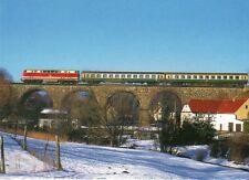Postkarte: Diesellokomotive der BR 219 mit Regionalbahn, Viadukt Ruppersdorf