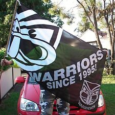 NRL NEW ZEALAND WARRIORS FLAG Large Flagpole style 90x150cm -NEW!
