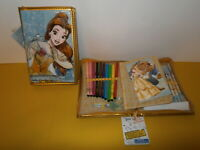 Disney Store - Princesse Belle Zip Fastening 30+ Piece Stationery Kit - New