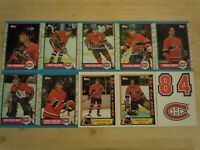 1989-90 Topps MONTREAL CANADIENS Team Set - 10 Hockey Cards - Includes 3 Inserts