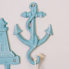 Nautical Marine Shabby Chic Blue Cast Iron Anchor Bathroom Wall Towel Hook