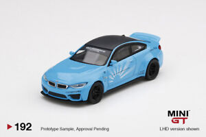 MINI GT 1:64 Mijo Exclusives LB WORKS BMW M4 Baby Blue