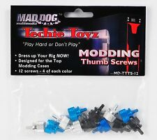 NEW PACK of 12 Tool-Free Thumb Screws for ATX Case PC Mod - MD-TTTS-12