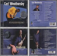 CARL WEATHERSBY Restless Feeling [HDCD] Audiophile CD & Come To Papa 2 Disc Lot