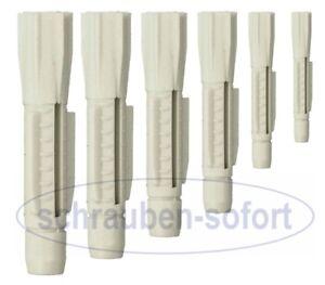 Universaldübel 5 - 14 mm ohne Kragen, VE 25/50/100/200 Stck Dübel Hohlraumdübel