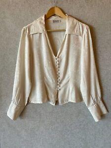 Liz Davenport vintage 100% silk blouse size 12