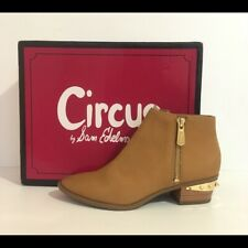 Circus by Sam Edelman Ankle Boots Holt Golden Caramel Leather Size 6.5 M NEW