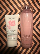 NEW! LANCOME Creme Mousse Confort Cleanser 50ml & Tonique Confort Toner 125ml
