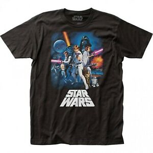 STAR WARS A NEW HOPE POSTER DESIGN T-SHIRT SMALL SIZE 100% COTTON QUALITY MENS