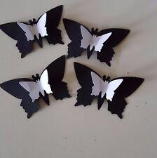 100 Negro y Blanco 3D Butterflys Boda Decoración De Mesa Adorno De Confeti