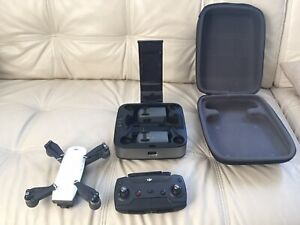 DJI Spark Drone Mint Condition! Portable Changing Station 3 Batteries! Alpine Wh