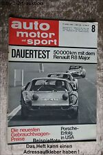 AMS Auto Motor Sport 8/65 Bizzarini Grifo Renault R 8 Major Fiat 850