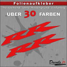 2er SET - RR Sponsoren-Folienaufkleber Auto/Motorrad - 30 Farben - 10cm