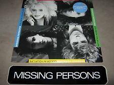 MISSING PERSONS Color in Your Life SEALED LP ST-12465 + FAN CLUB BUMPER STICKER