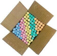 Natural Colour Chalk High Quality 3 Box 100 Pieces with Free Duster Free Ship US