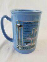 SEATTLE Washington City Coffee Mug Raised Cityscape Space Needle blue nice