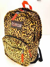 Jansport Trans Backpack Plush Leopard Print Bookbag Laptop Sleeve