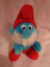Smurf Papa 1981 Wallace Berrie stuffed plush Nutshell bean bag sitting Korea VTG