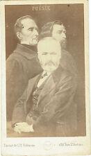 Photo cdv : Photo-montage , Victor Hugo , Lamartine et Alfred de Musset