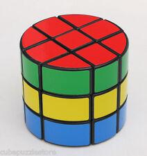 DS 3x3x3 Cylinder Magic Cube Pie Twisty Puzzle Intelligence Toys Kids Gift Black