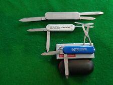Old Lot 3 Victorinox Advertising Knives Global Navigation, Hughes Aircraft, Aero