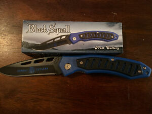 Frost Cutlery Black Squall Pocket Knife 16-674R/BL/GD Stainless Blade - Pick One
