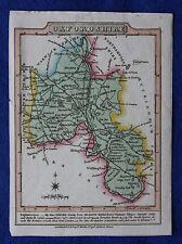 Original antique map, Oxfordshire, Banbury, Oxford, Wallis / Martin c.1818