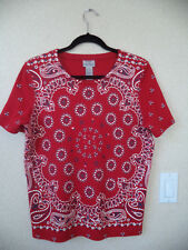 Very nice red bandana style top size large