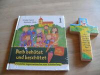 Schulanfang-Buch: Bleib behütet und beschützt, Reinhard Abeln, incl. Holzkreuz
