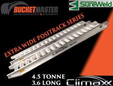 SUREWELD 4.5T 3.6M Positrack series extra wide Aluminium ramps FREE POSTAGE