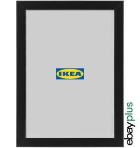 IKEA FISKBO Bilderrahmen 21 x 30 cm schwarz A4 Fotorahmen Bilder Foto Rahmen NEU
