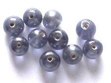 De 12: ronda 10mm lustered Perlas De Vidrio, púrpura, para la fabricación de joyas y artesanías