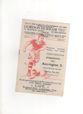 1956-57 Workington v Accrington Stanley 27 April 1957 Division 3 North