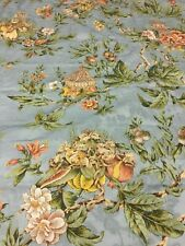 Braemore Upholstery Drapery Fabric Blue Floral Print 3.25 yards