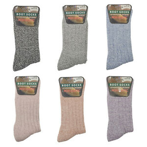 Ladies Wool Blend Boot Socks Womens Non Elastic Thermal Warm Winter Wear 4-8