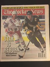 1995 HOCKEY News PITTSBURGH Penguins MARIO LEMIEUX Rangers MARK MESSIER No Label