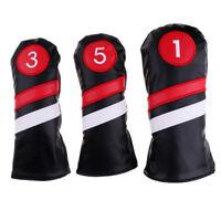 Waterproof PU Golf Head Covers #1 Driver #3 #5 Fairway Woods Club Headcovers