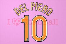 Del Piero #10 2006-2007 Juventus Homekit Nameset Printing
