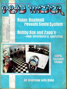 PLAY METER Magazine FEB 1 1984 Crossbow, Bushnell, Arcade Playmeter better cover