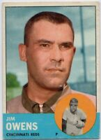 1963 Topps #483 Jim Owens VG-VGEX Tough High Number Free Shipping