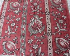 French Antique Toile de Nantes c1800-1820 Hand Blocked/Resist Dyed Fabric