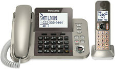 Panasonic TGF350N Cord/Cordless Phone Talking Caller ID and Answering Machine